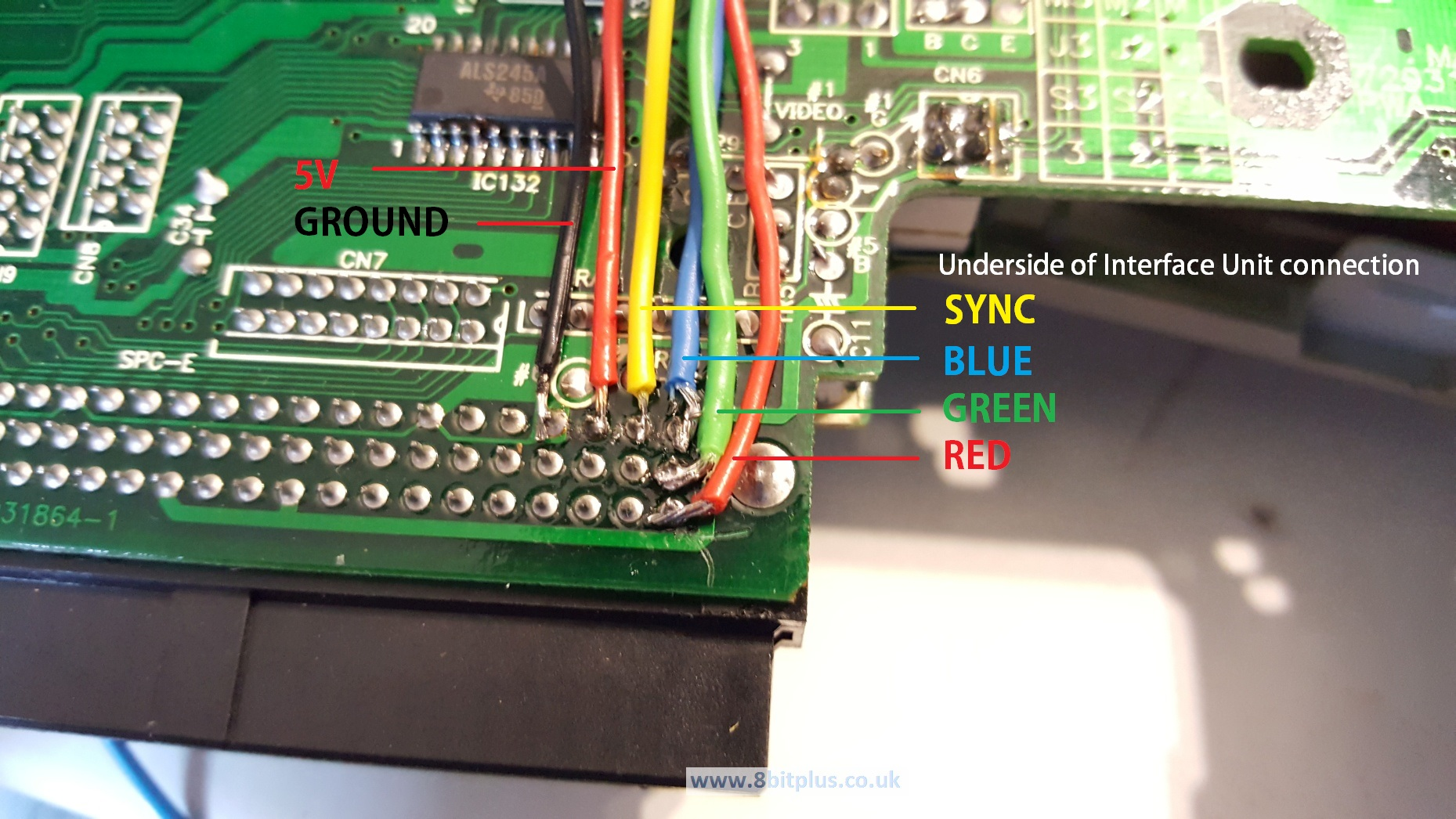 Nec Pc Engine Interface Unit Rgb Mod 8bitplus Modded Controller Wiring Diagram Pce Connection