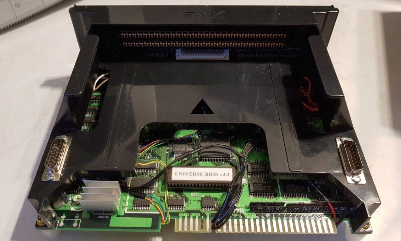 neo geo mvs console convertion mv1a 8bitplusadapting neo geo mv1a arcade board to a console consolised mvs board audio,video and controller port installation port installation