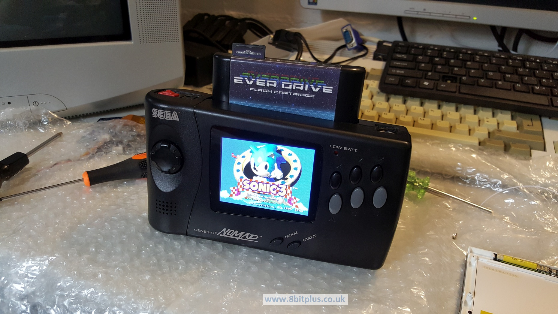 Sega Nomad Battery Pack and Screen